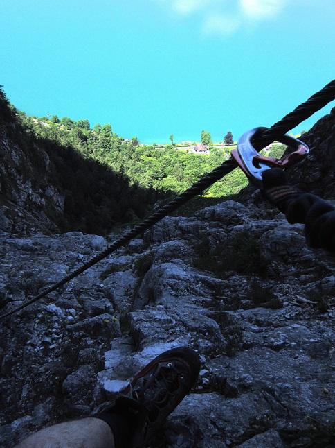 Foto: Andreas Koller / Klettersteigtour / Attersee Klettersteig Mahdlgupf (1261m) / 30.06.2013 15:58:42