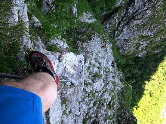 Foto: Andreas Koller / Klettersteigtour / Attersee Klettersteig Mahdlgupf (1261m) / 30.06.2013 15:58:23