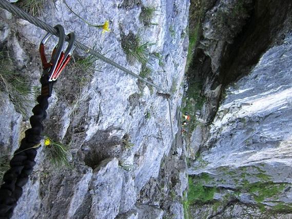 Foto: Andreas Koller / Klettersteigtour / Attersee Klettersteig Mahdlgupf (1261m) / 30.06.2013 15:57:44