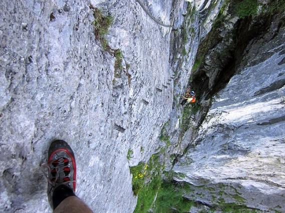 Foto: Andreas Koller / Klettersteigtour / Attersee Klettersteig Mahdlgupf (1261m) / 30.06.2013 15:57:35
