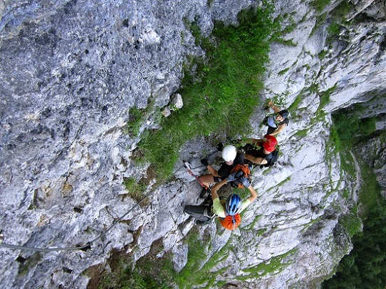 Foto: Andreas Koller / Klettersteigtour / Attersee Klettersteig Mahdlgupf (1261m) / 30.06.2013 15:56:38