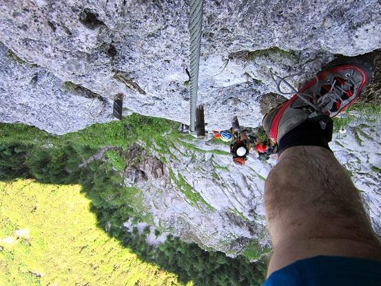 Foto: Andreas Koller / Klettersteigtour / Attersee Klettersteig Mahdlgupf (1261m) / 30.06.2013 15:56:28