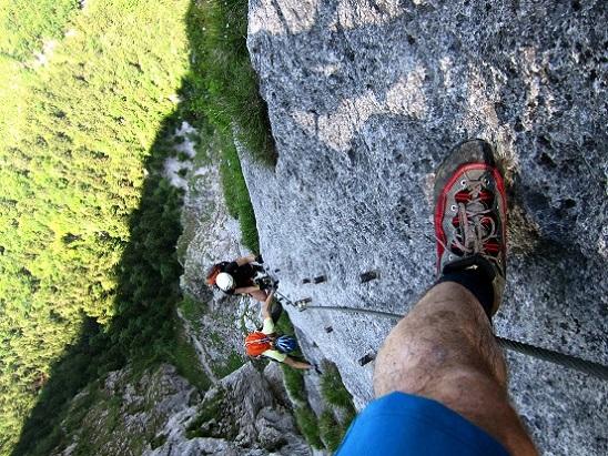 Foto: Andreas Koller / Klettersteigtour / Attersee Klettersteig Mahdlgupf (1261m) / 30.06.2013 15:56:19