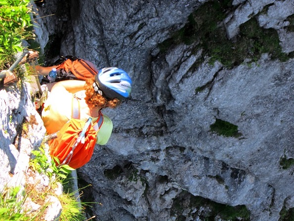 Foto: Andreas Koller / Klettersteigtour / Attersee Klettersteig Mahdlgupf (1261m) / Endlich in der Sonne / 30.06.2013 15:56:09