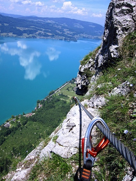 Foto: Andreas Koller / Klettersteigtour / Attersee Klettersteig Mahdlgupf (1261m) / 30.06.2013 15:55:54