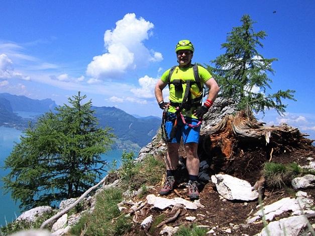 Foto: Andreas Koller / Klettersteigtour / Attersee Klettersteig Mahdlgupf (1261m) / Idealer Rastplatz  / 30.06.2013 15:55:15