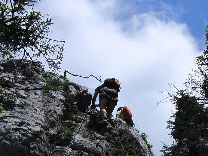 Foto: Andreas Koller / Klettersteigtour / Attersee Klettersteig Mahdlgupf (1261m) / 30.06.2013 15:54:21