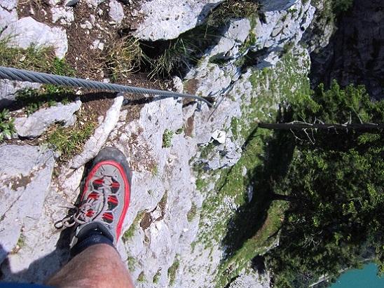 Foto: Andreas Koller / Klettersteigtour / Attersee Klettersteig Mahdlgupf (1261m) / 30.06.2013 15:53:14