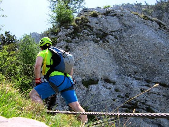 Foto: Andreas Koller / Klettersteigtour / Attersee Klettersteig Mahdlgupf (1261m) / 30.06.2013 15:52:51