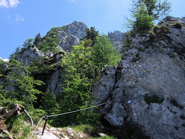 Foto: Andreas Koller / Klettersteigtour / Attersee Klettersteig Mahdlgupf (1261m) / 30.06.2013 15:52:40