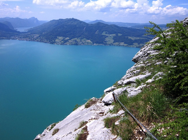 Foto: Andreas Koller / Klettersteigtour / Attersee Klettersteig Mahdlgupf (1261m) / 30.06.2013 15:52:29