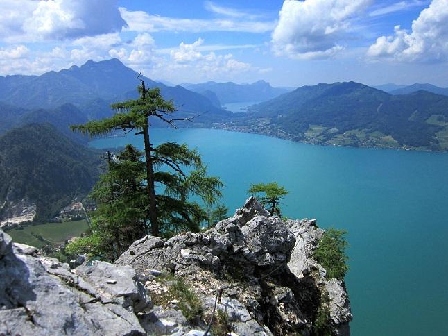 Foto: Andreas Koller / Klettersteigtour / Attersee Klettersteig Mahdlgupf (1261m) / 30.06.2013 15:52:01
