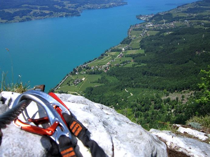 Foto: Andreas Koller / Klettersteigtour / Attersee Klettersteig Mahdlgupf (1261m) / 30.06.2013 15:51:41