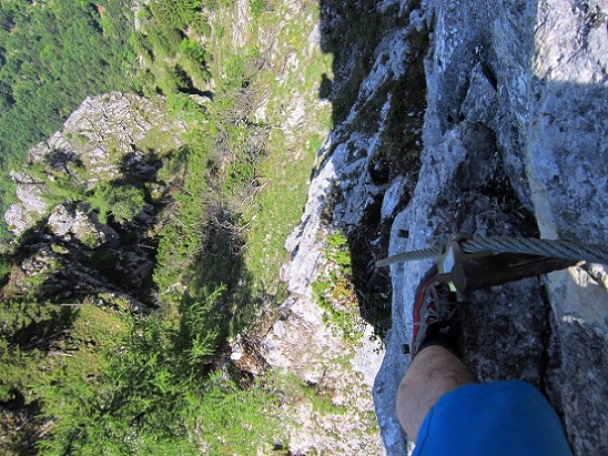 Foto: Andreas Koller / Klettersteigtour / Attersee Klettersteig Mahdlgupf (1261m) / 30.06.2013 15:50:36