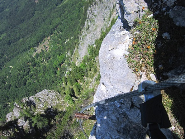 Foto: Andreas Koller / Klettersteigtour / Attersee Klettersteig Mahdlgupf (1261m) / 30.06.2013 15:50:14