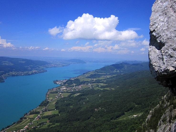 Foto: Andreas Koller / Klettersteigtour / Attersee Klettersteig Mahdlgupf (1261m) / 30.06.2013 15:50:04