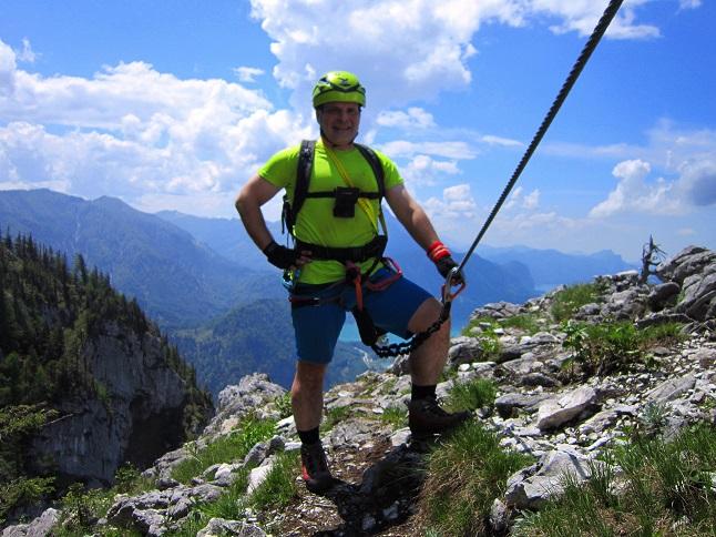 Foto: Andreas Koller / Klettersteigtour / Attersee Klettersteig Mahdlgupf (1261m) / 30.06.2013 15:49:55