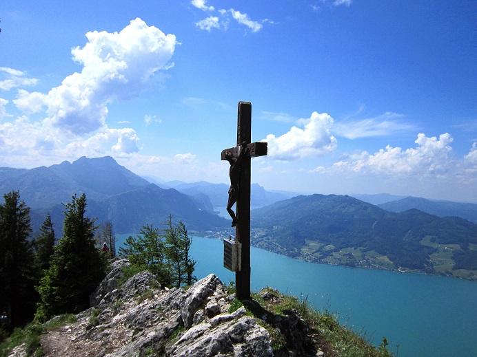 Foto: Andreas Koller / Klettersteigtour / Attersee Klettersteig Mahdlgupf (1261m) / 30.06.2013 15:47:24