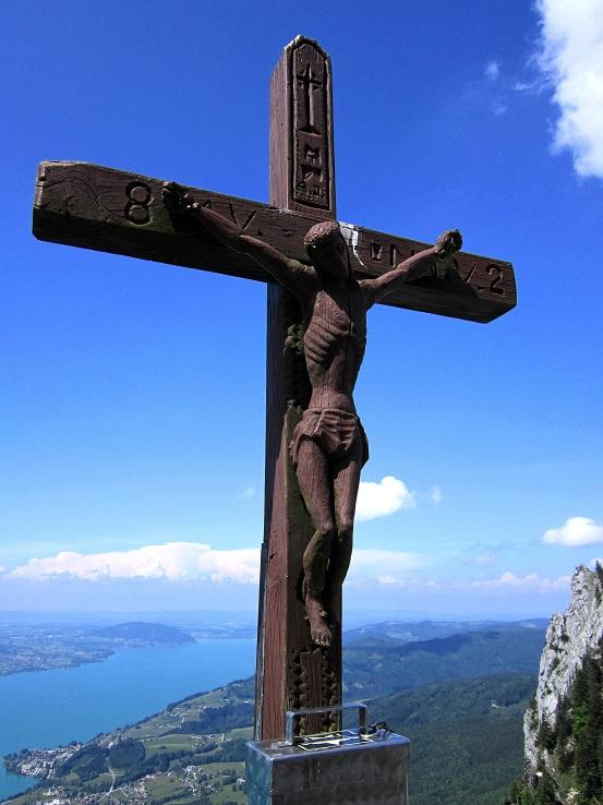 Foto: Andreas Koller / Klettersteigtour / Attersee Klettersteig Mahdlgupf (1261m) / 30.06.2013 15:46:23