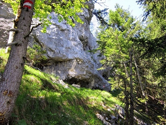 Foto: Andreas Koller / Klettersteigtour / Attersee Klettersteig Mahdlgupf (1261m) / Abstieg vom Mahdlgupf / 30.06.2013 15:46:13