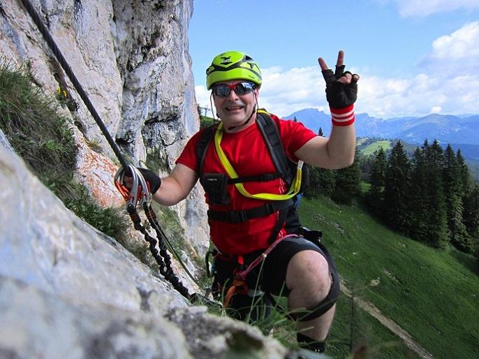 Foto: Andreas Koller / Klettersteigtour / Intersport Klettersteig Donnerkogel (2054m) / 12.07.2013 16:42:11