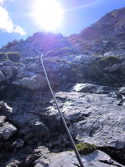 Foto: Andreas Koller / Klettersteigtour / Intersport Klettersteig Donnerkogel (2054m) / Anstieg zum Gamsband / 12.07.2013 16:35:46