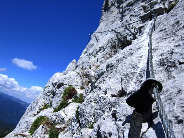 Foto: Andreas Koller / Klettersteigtour / Intersport Klettersteig Donnerkogel (2054m) / Donnermandl-Passage / 12.07.2013 16:32:59