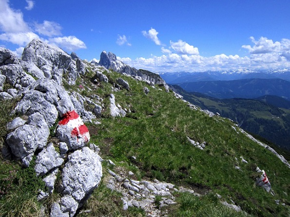 Foto: Andreas Koller / Klettersteigtour / Intersport Klettersteig Donnerkogel (2054m) / Abstieg vom Donnerkogel auf dem Normalweg / 12.07.2013 16:26:39