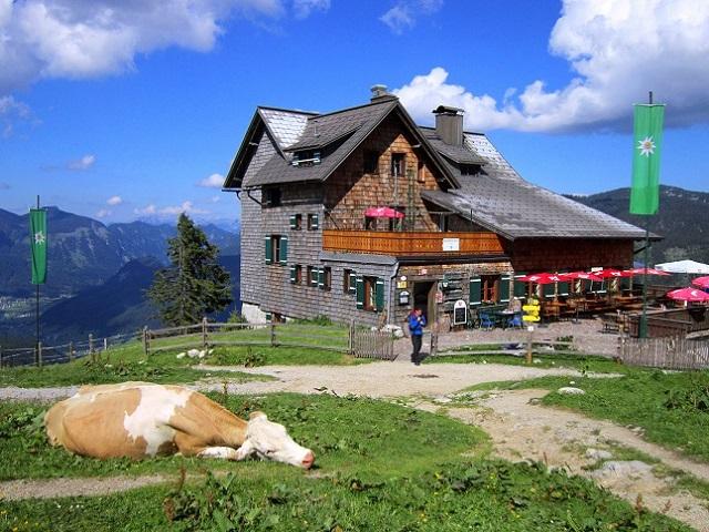Foto: Andreas Koller / Klettersteigtour / Intersport Klettersteig Donnerkogel (2054m) / Zurück bei der Gablonzerhütte / 12.07.2013 16:23:57