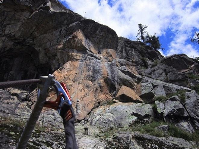 Klettersteig La Resgia : Team orso ferrata la resgia pezzo balordo klettersteig alpe