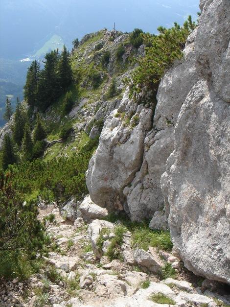 Foto: Manfred Karl / Wandertour / Hohes Brett über Brettgabel / Abstieg in der Rinne oberhalb der Brettgabel / 04.10.2013 21:05:21