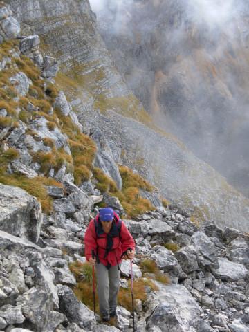 Foto: Wolfgang Lauschensky / Wandertour / Kleine Gaisl oder Croda Rossa Piccola von Pederü / steiles wegloses Schrofengelände / 12.10.2013 13:40:52