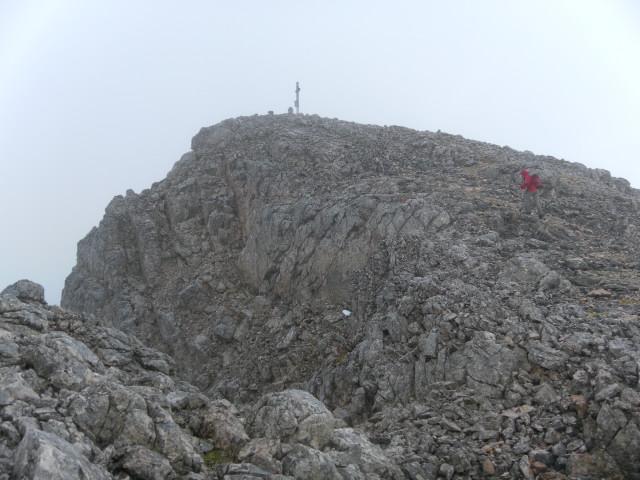 Foto: Wolfgang Lauschensky / Wandertour / Kleine Gaisl oder Croda Rossa Piccola von Pederü / vor der Gipfelkuppe / 12.10.2013 13:39:24
