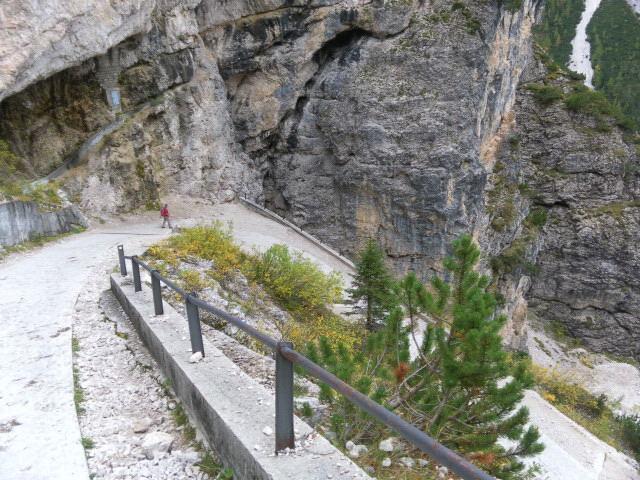 Foto: Wolfgang Lauschensky / Wandertour / Kleine Gaisl oder Croda Rossa Piccola von Pederü / Steilabstieg nach Pederü / 12.10.2013 13:37:39