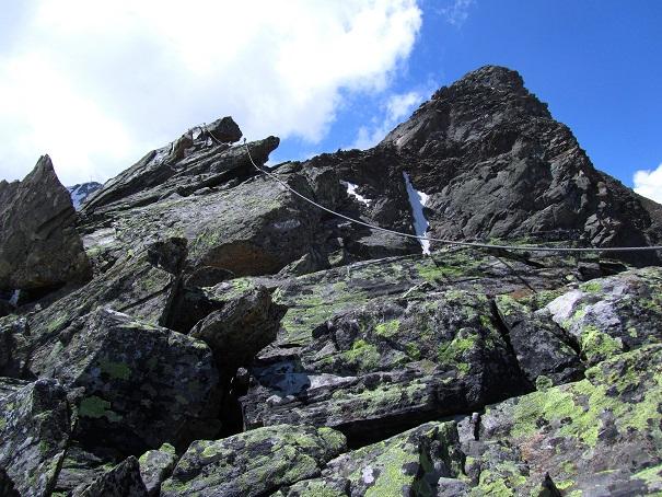 Foto: Andreas Koller / Klettersteigtour / Klettersteig Graue Wand (3202m) / Einstieg / 23.12.2013 03:02:30