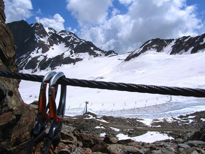 Foto: Andreas Koller / Klettersteigtour / Klettersteig Graue Wand (3202m) / 23.12.2013 03:00:36
