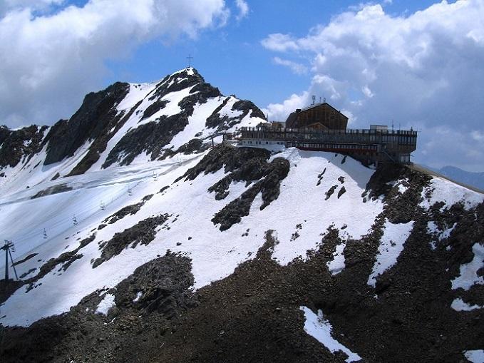 Foto: Andreas Koller / Klettersteigtour / Klettersteig Graue Wand (3202m) / Ausstieg mit Blick zur Grawand / 23.12.2013 02:55:41