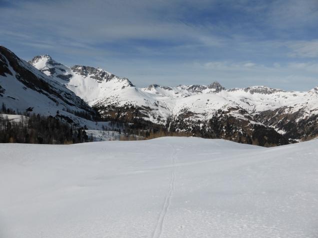 Foto: Manfred Karl / Skitour / Seeköpfl von Wald im Zederhaustal / Links hinten das Mosermandl / 19.03.2014 19:51:57