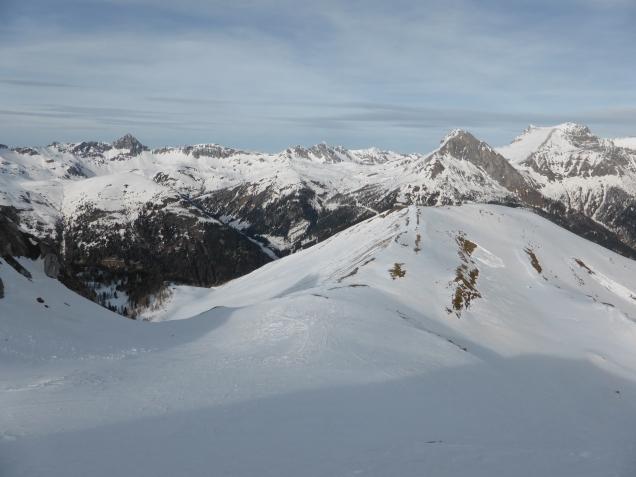 Foto: Manfred Karl / Skitour / Seeköpfl von Wald im Zederhaustal / Blick nach NO zum Hauptkamm der Radstädter Tauern / 19.03.2014 19:51:18