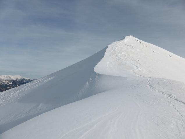 Foto: Manfred Karl / Skitour / Seeköpfl von Wald im Zederhaustal / Seeköpfl mit dem kurzen Gipfelgrat / 19.03.2014 19:49:50