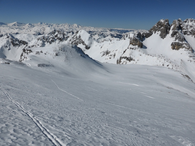 Foto: Manfred Karl / Skitour / Windischkopf über das Gruberkar / Rechts der Faulkogel / 24.03.2014 20:12:43
