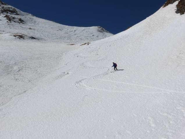 Foto: Manfred Karl / Skitour / Windischkopf über das Gruberkar / Abfahrt im Gruberkar / 24.03.2014 20:11:41