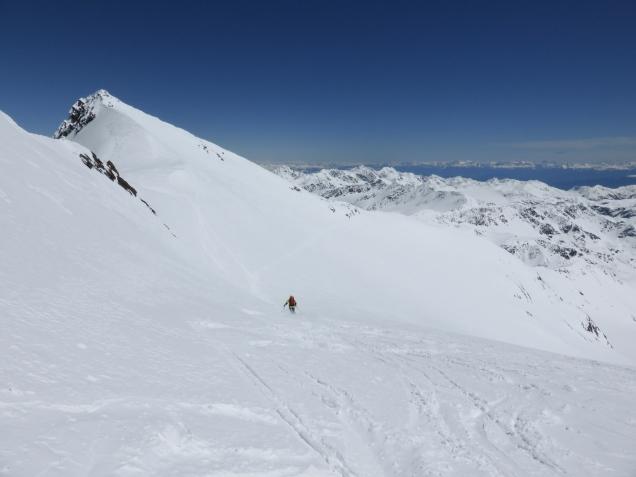 Foto: Manfred Karl / Skitour / Monte Cevedale von Sulden / Abfahrt Richtung Zufallspitze / 11.06.2014 19:51:58
