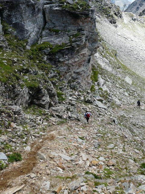Foto: Walter Ruttinger / Wandertour / Sportgastein-Salesenkogel (Salesenspitz)-Kreuzkogel / Steil auf den Salesenspitz, Kreuzkogel wäre rechts oben ausserhalb Bildecke / 23.07.2014 10:12:17