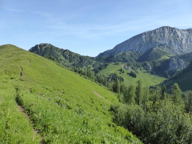 Foto: Manfred Karl / Wandertour / Über die Rotspielscheibe auf den Fagstein / Wiesenkamm zur Farnleiten / 27.07.2014 21:17:20