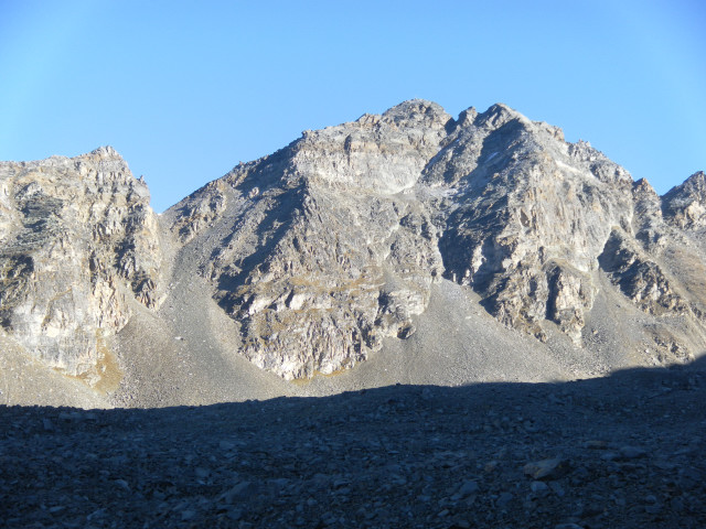 Foto: Wolfgang Lauschensky / Klettersteigtour / Tschenglser Hochwand 3375m Verlängerung des Südwandklettersteigs / Tschenglser Südwand / 11.10.2014 18:17:27