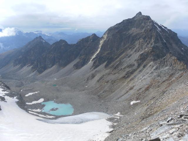 Foto: Wolfgang Lauschensky / Klettersteigtour / Tschenglser Hochwand 3375m Verlängerung des Südwandklettersteigs / laufende Entladungen im Klettersteigareal 2014 / 11.10.2014 18:08:39
