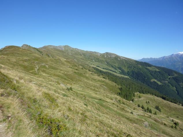 Foto: Manfred Karl / Wandertour / Manlitzkogel von der Bürglhütte / Der Weg zum Manlitzkogel - etwas links der Bildmitte - erscheint noch weit / 13.11.2014 20:57:15