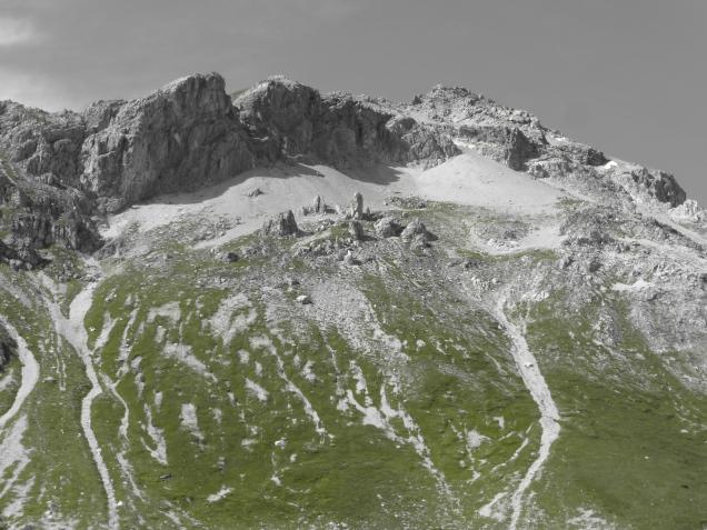 Foto: Manfred Karl / Wandertour / Schliererspitze von Wald / Blick zum Kleinen Mosermandl / 23.11.2014 20:34:03