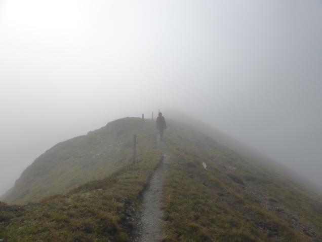 Foto: Manfred Karl / Wandertour / Gipfelreigen rund um die Karteisalm / Am Grat zum Kreuzeck / 08.12.2014 19:42:45